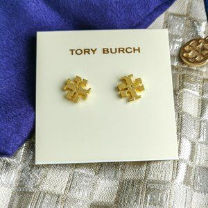Tory Burch Logo gold mini stud earrings